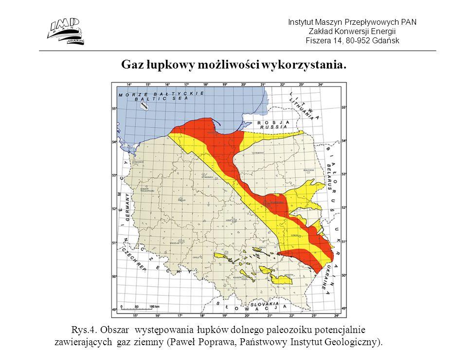 Instytut Maszyn Przepływowych PAN Zakład Konwersji Energii Fiszera 14, 80-952 Gdańsk Gaz łupkowy możliwości wykorzystania.