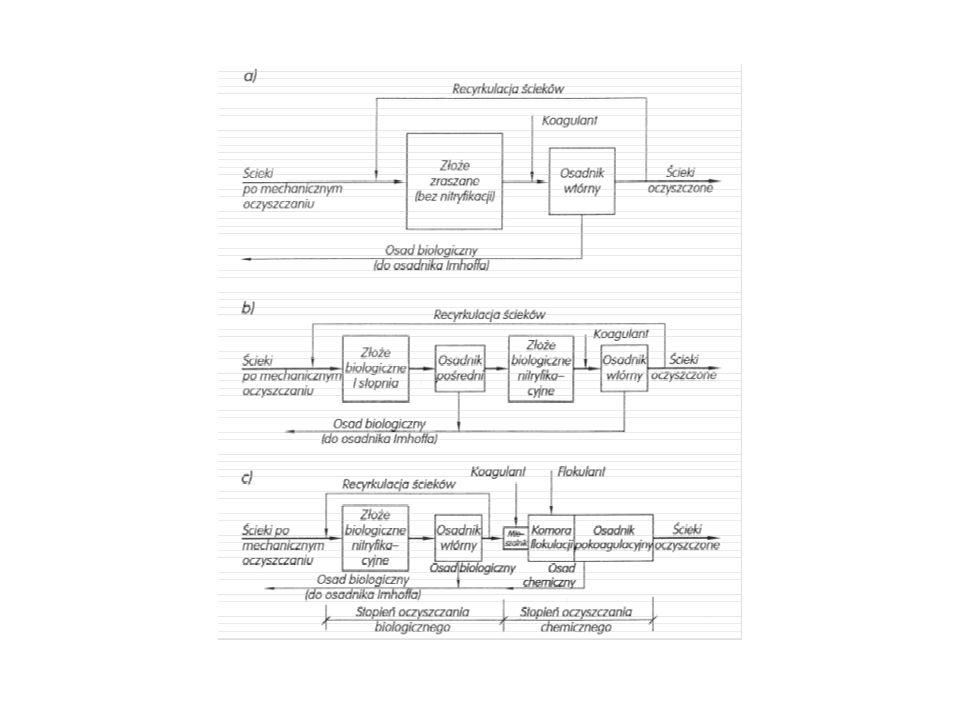 a)faza napełniania anoksycznego – w komorze panują warunki niedotlenienia (anoksyczne), b)faza beztlenowa – występująca przy wyłączonym napowietrzaniu.
