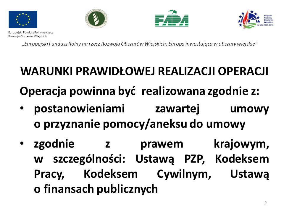 """2 Europejski Fundusz Rolny na rzecz Rozwoju Obszarów Wiejskich """"Europejski Fundusz Rolny na rzecz Rozwoju Obszarów Wiejskich: Europa inwestująca w obs"""