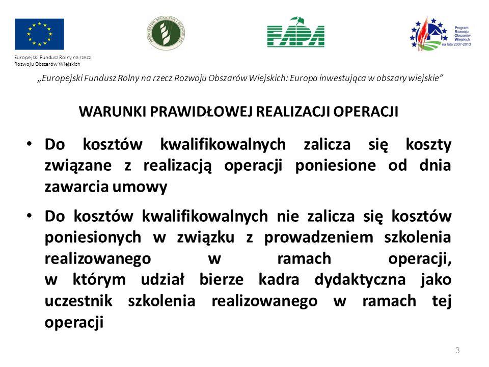 """3 Europejski Fundusz Rolny na rzecz Rozwoju Obszarów Wiejskich """"Europejski Fundusz Rolny na rzecz Rozwoju Obszarów Wiejskich: Europa inwestująca w obs"""