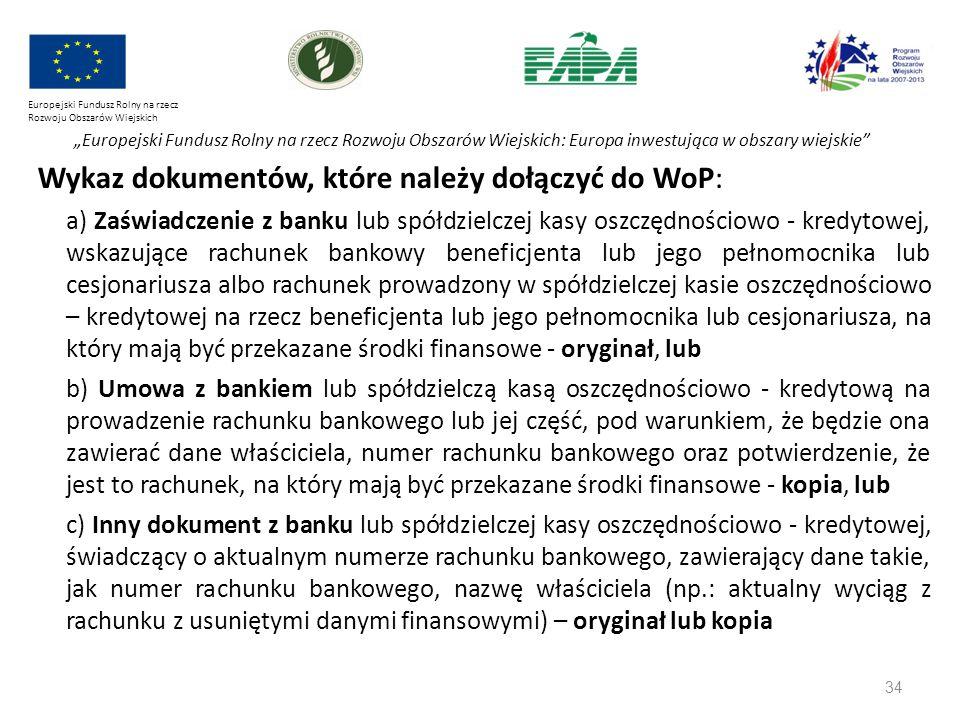 """34 Europejski Fundusz Rolny na rzecz Rozwoju Obszarów Wiejskich """"Europejski Fundusz Rolny na rzecz Rozwoju Obszarów Wiejskich: Europa inwestująca w ob"""