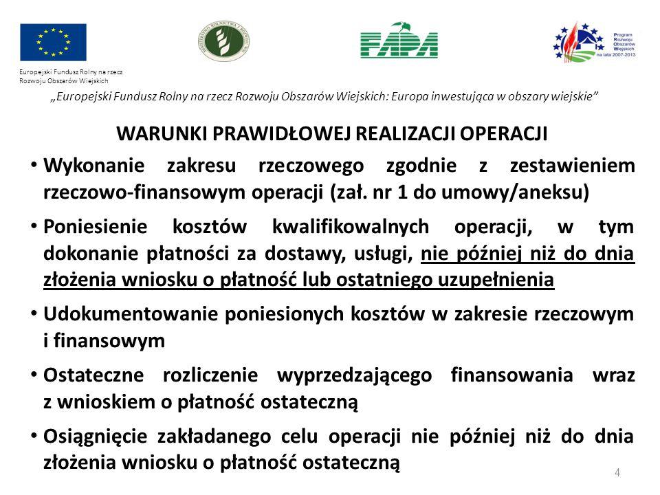 """4 Europejski Fundusz Rolny na rzecz Rozwoju Obszarów Wiejskich """"Europejski Fundusz Rolny na rzecz Rozwoju Obszarów Wiejskich: Europa inwestująca w obs"""