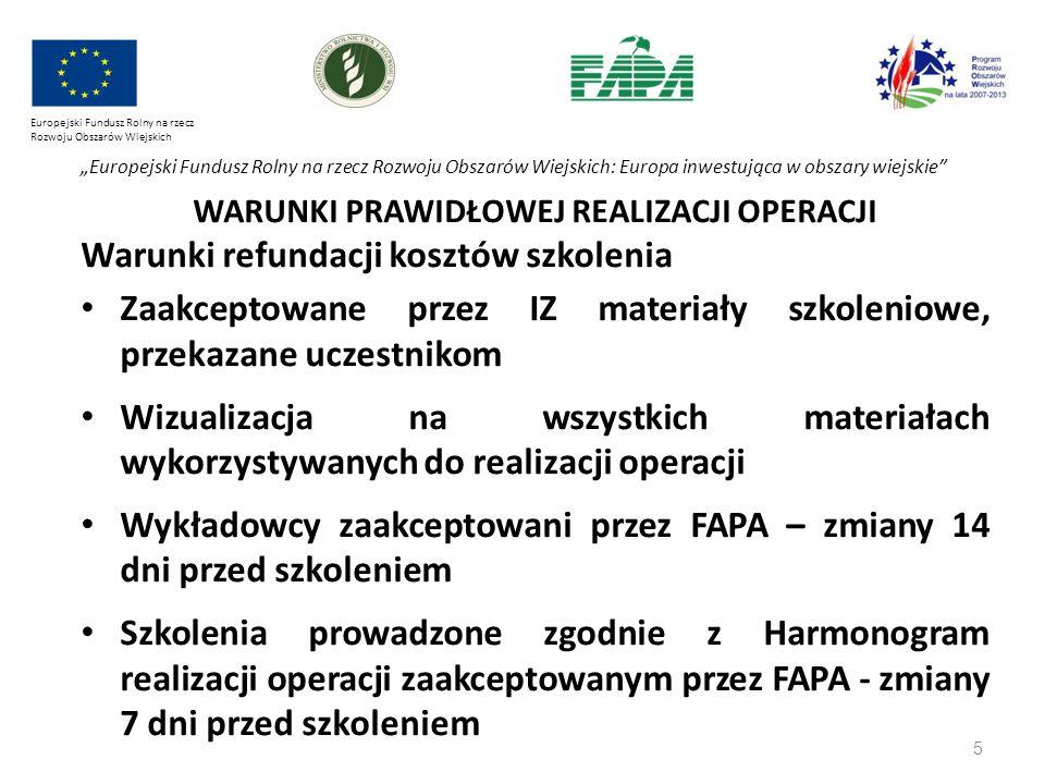 """5 Europejski Fundusz Rolny na rzecz Rozwoju Obszarów Wiejskich """"Europejski Fundusz Rolny na rzecz Rozwoju Obszarów Wiejskich: Europa inwestująca w obs"""