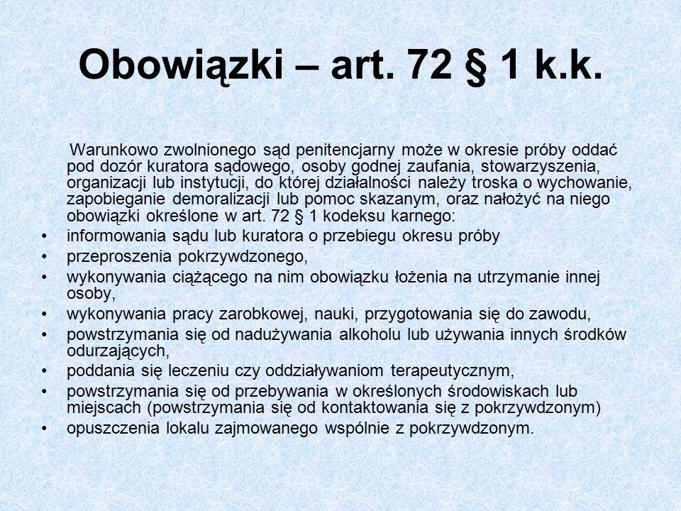 Obowiązki – art.72 § 1 k.k.