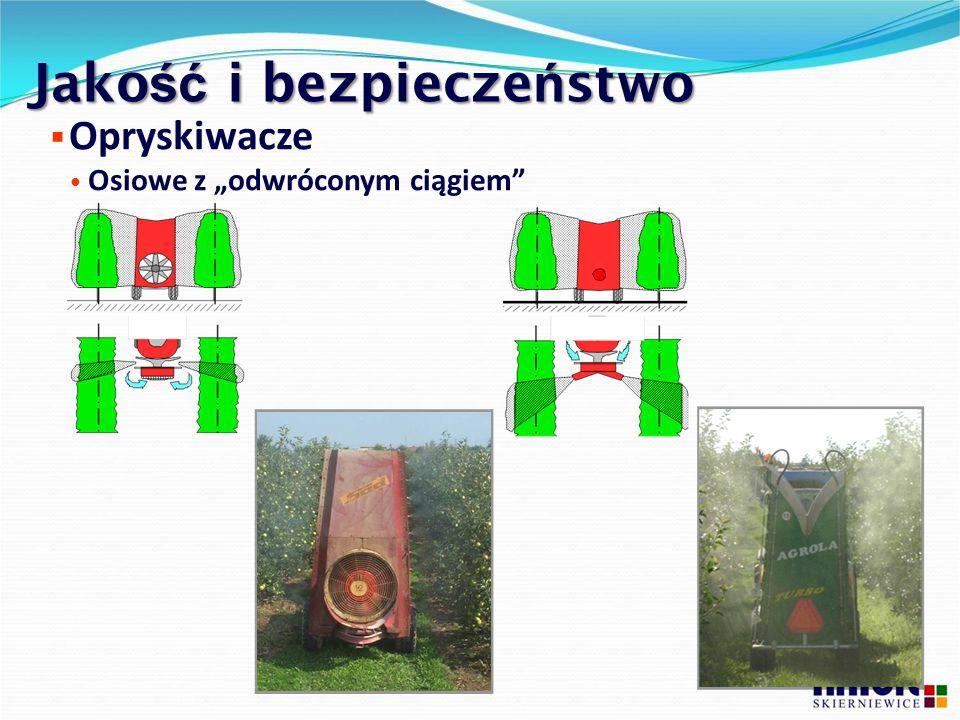 """Jako ść i bezpiecze ń stwo  Opryskiwacze Osiowe z """"odwróconym ciągiem"""""""