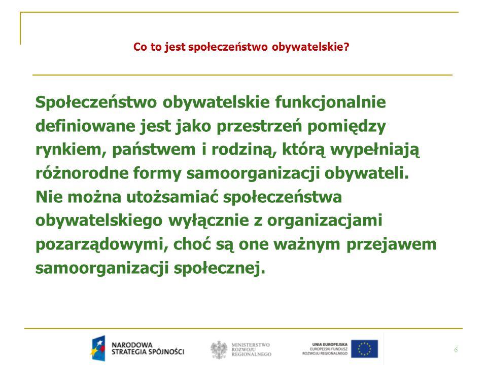 37 Jakie znaczenie dla rozwoju społeczeństwa obywatelskiego w Polsce mogą mieć fundusze strukturalne?