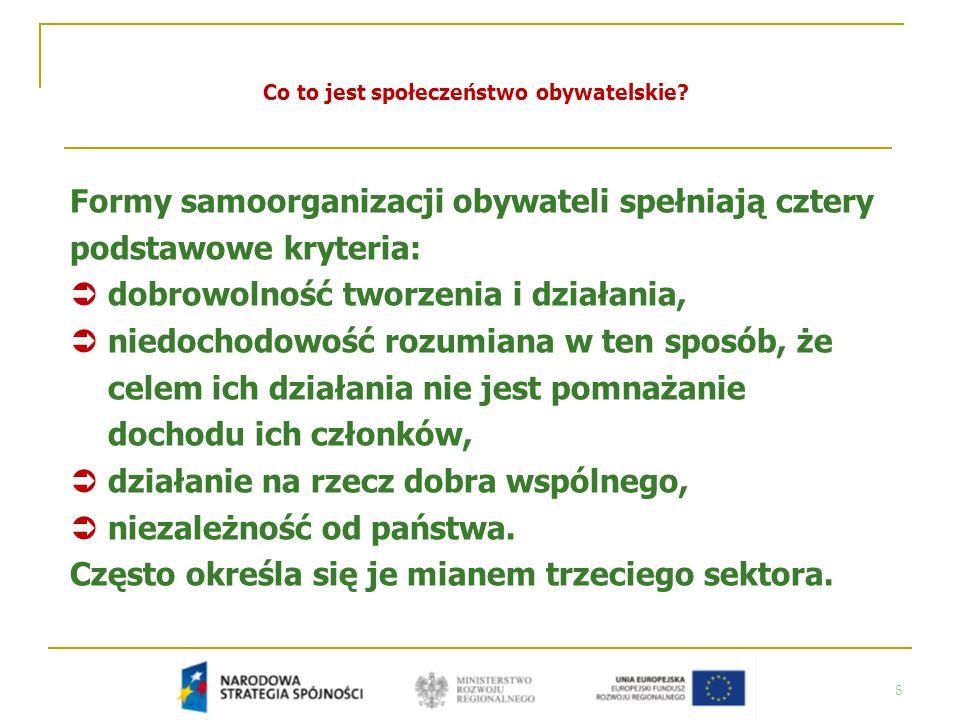 39 Jakie znaczenie dla rozwoju społeczeństwa obywatelskiego w Polsce mogą mieć fundusze strukturalne.