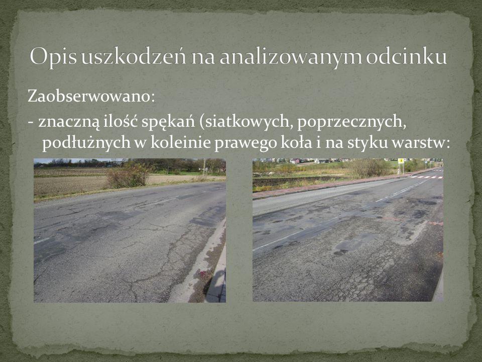 """Warunek mrozoodporności dla """"Otworu geotechnicznego nr 4 : Hnaw = (3,5cm-7,5cm)+10,5cm+20cm+4cm+9cm=39.5cm < 55cm Warunek nie spełniony Kolejna warstwa: 16cm kruszywa 4/20 ulepszanego asfaltem Hnaw = 39.5cm+16cm=55.5cm > 55cm Warunek spełniony!"""