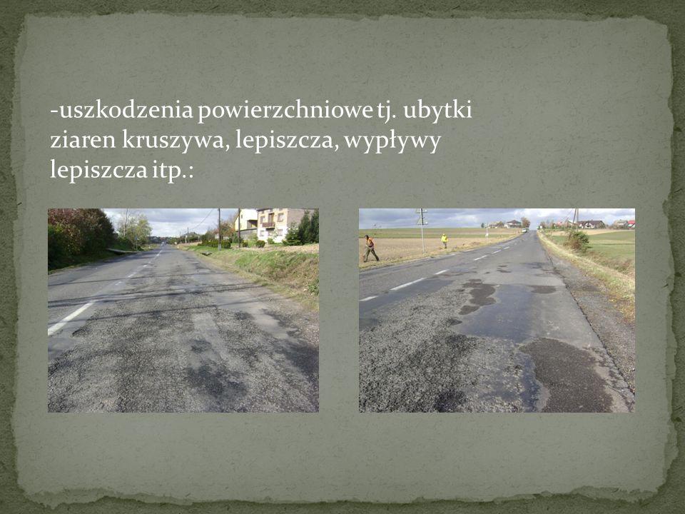 frezujemy 3cm i usuwamy geowłókninę do obliczonej nakładki zastępczej (0cm) dodaję 3cm, stąd Hwym = 3cm Przyjmuję do wzmocnienia 2 warstwy asfaltowe: - 4cm SMA 0/8 jako warstwę ścieralną - 9cm betonu asfaltowego 0/16 jako warstwę wiążącą Sprawdzam warunek: 2*4cm+2*9cm=26cm > Hwym = 3cm Warunek spełniony.