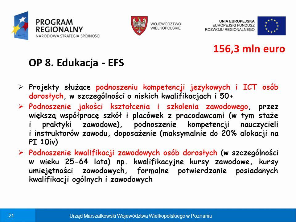 21  Projekty służące podnoszeniu kompetencji językowych i ICT osób dorosłych, w szczególności o niskich kwalifikacjach i 50+  Podnoszenie jakości ks