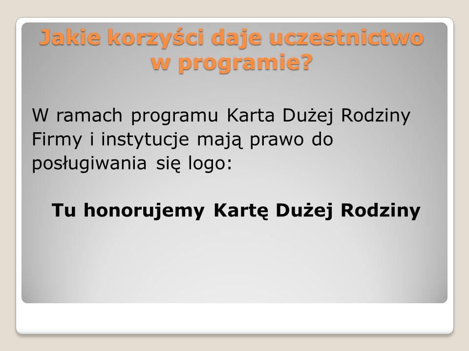 Jakie korzyści daje uczestnictwo w programie.