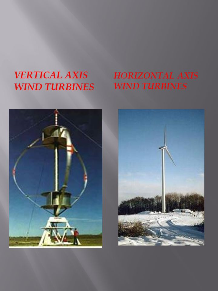 VERTICAL AXIS WIND TURBINES HORIZONTAL AXIS WIND TURBINES