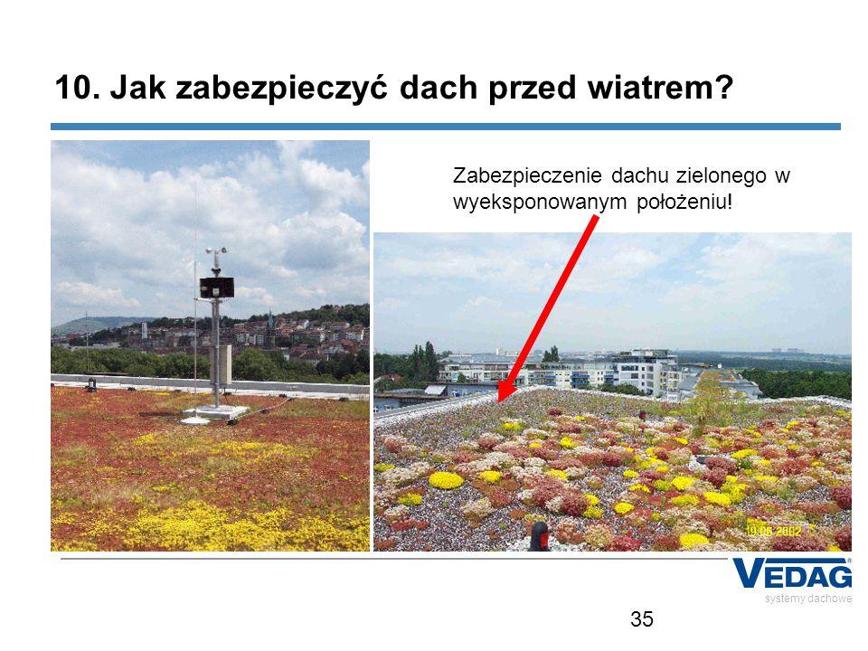 35 systemy dachowe 10. Jak zabezpieczyć dach przed wiatrem? Zabezpieczenie dachu zielonego w wyeksponowanym położeniu!