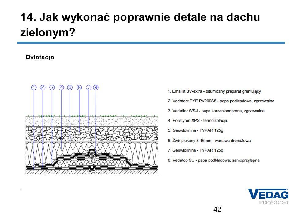42 systemy dachowe Dylatacja 14. Jak wykonać poprawnie detale na dachu zielonym?