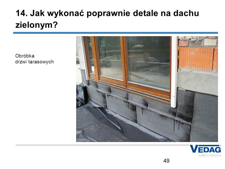 49 systemy dachowe Obróbka drzwi tarasowych 14. Jak wykonać poprawnie detale na dachu zielonym?