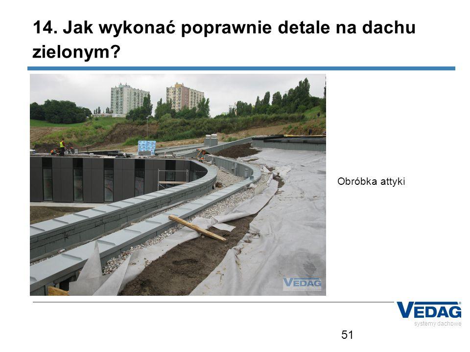 51 systemy dachowe Obróbka attyki 14. Jak wykonać poprawnie detale na dachu zielonym?
