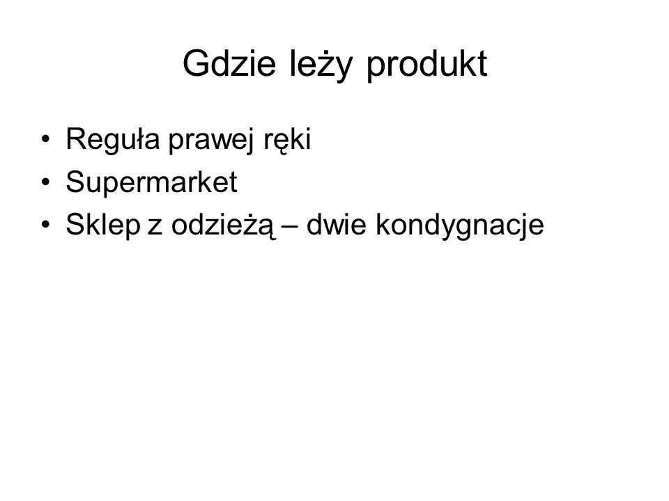 Gdzie leży produkt Reguła prawej ręki Supermarket Sklep z odzieżą – dwie kondygnacje