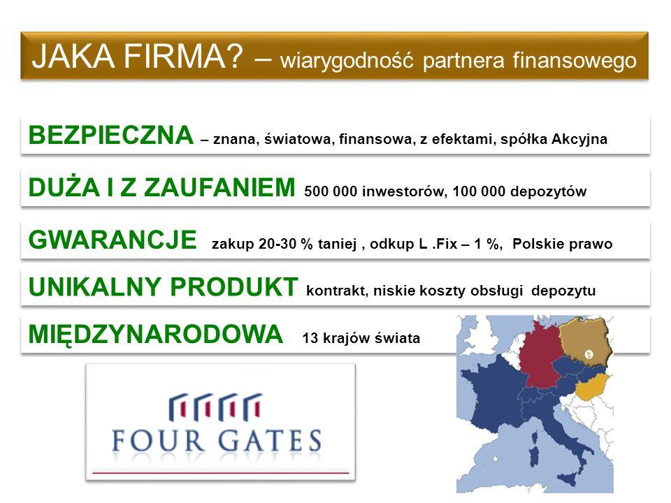 JAKA FIRMA? – wiarygodność partnera finansowego BEZPIECZNA – znana, światowa, finansowa, z efektami, spółka Akcyjna DUŻA I Z ZAUFANIEM 500 000 inwesto