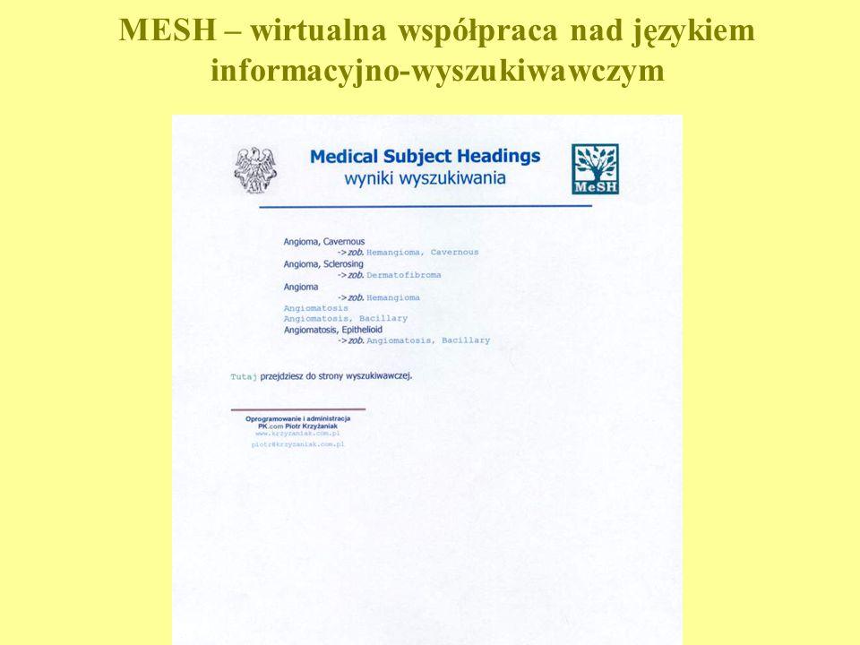 MESH – wirtualna współpraca nad językiem informacyjno-wyszukiwawczym