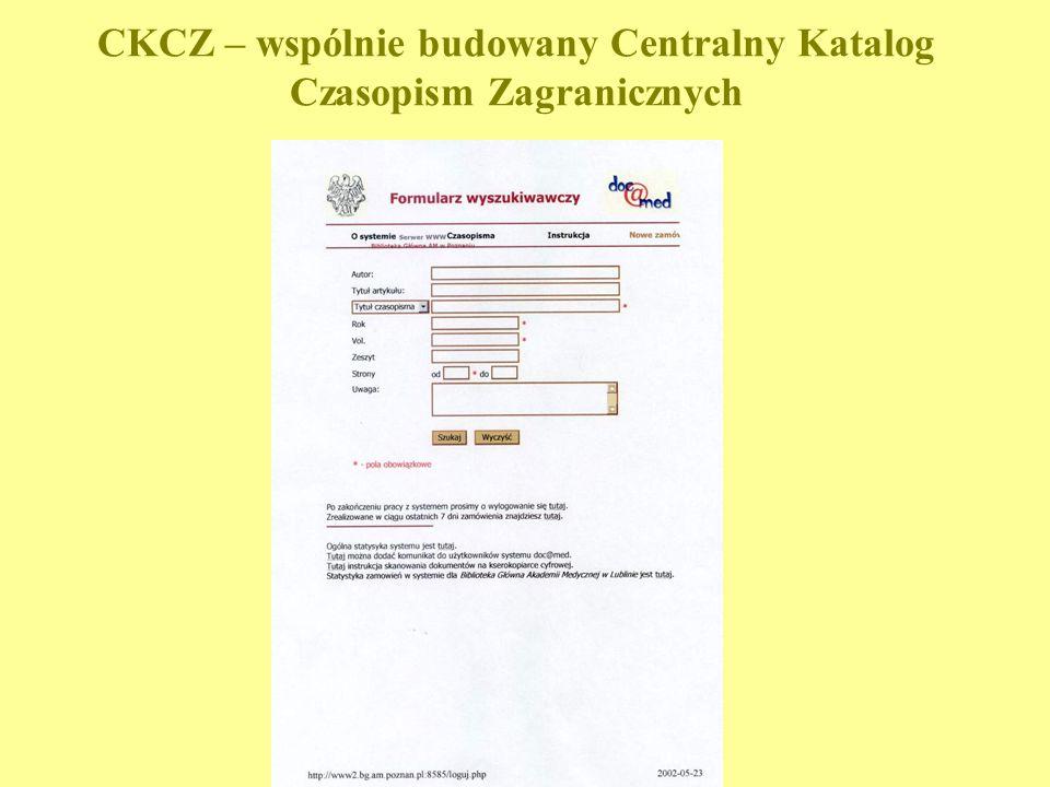 CKCZ – wspólnie budowany Centralny Katalog Czasopism Zagranicznych