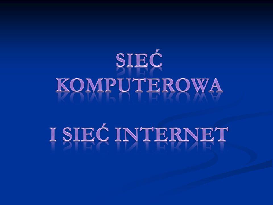 Sieć- to grupa komputerów lub innych urządzeń połączonych ze sobą kablem sieciowym.