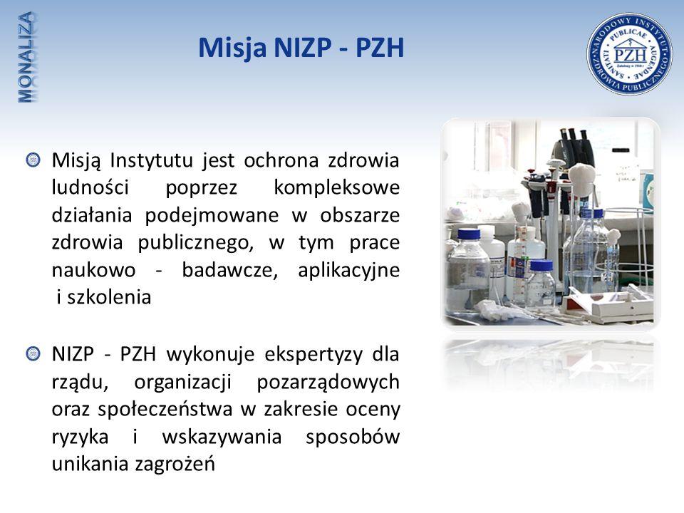 Misja NIZP - PZH Misją Instytutu jest ochrona zdrowia ludności poprzez kompleksowe działania podejmowane w obszarze zdrowia publicznego, w tym prace n