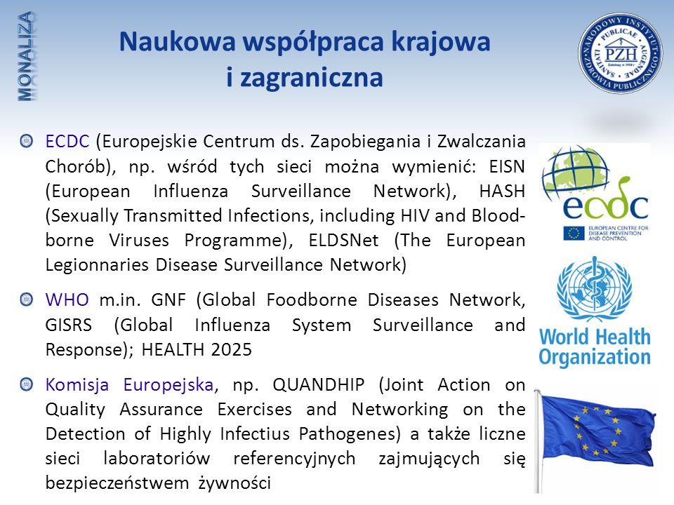 ECDC (Europejskie Centrum ds. Zapobiegania i Zwalczania Chorób), np. wśród tych sieci można wymienić: EISN (European Influenza Surveillance Network),