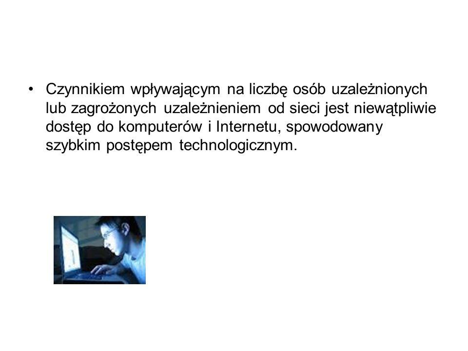 Najnowsze dane z Polski pokazują, że od 18% do 38% młodych użytkowników Internetu w wieku od 11 do 16 lat twierdziło, że w ostatnim roku pojawiły się u nich jakieś symptomy uzależnienia, 9% zwróciło uwagę na wystąpienie kilku symptomów wskazujących znacząco na uzależnienie, zaś 41% nastolatków nie stwierdziło żadnych symptomów uzależnienia.