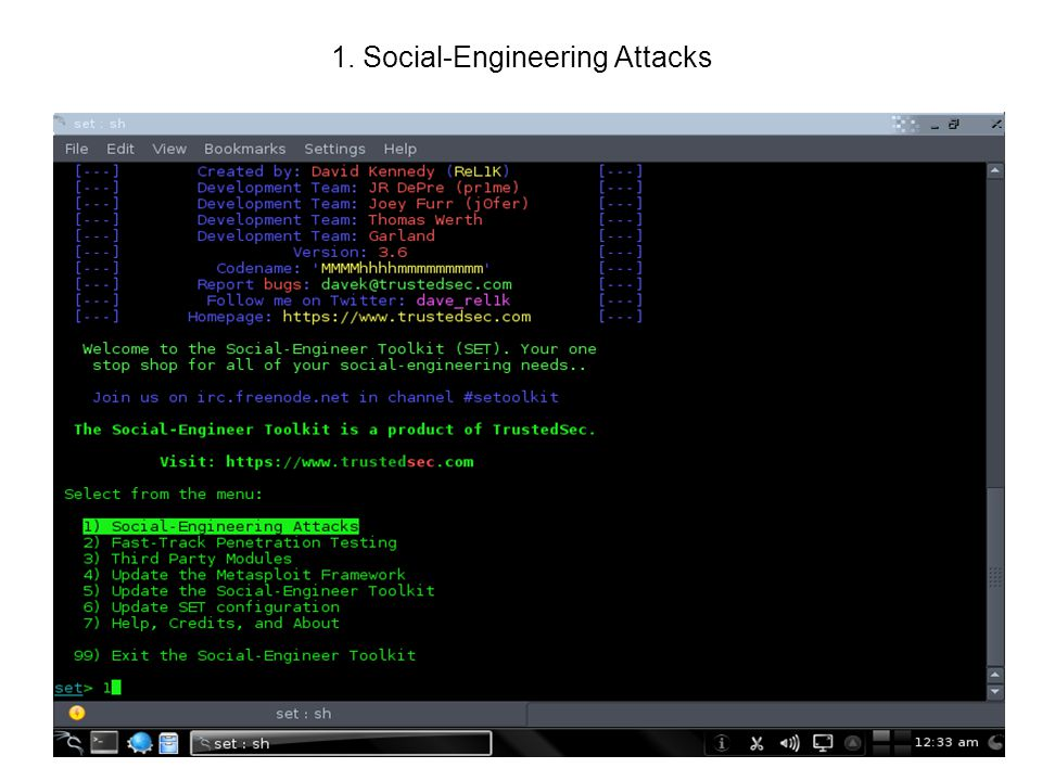 1. Social-Engineering Attacks