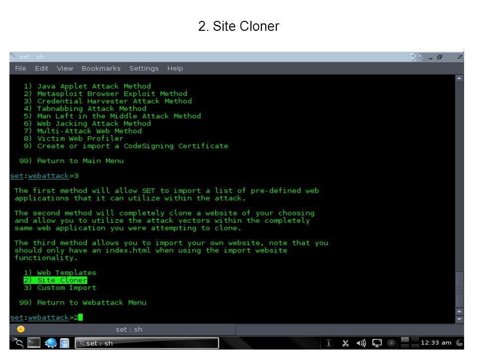 2. Site Cloner