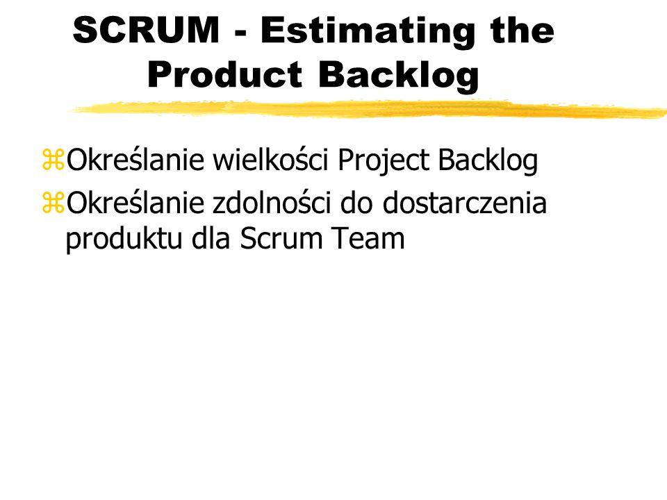 SCRUM - możliwości potencjalne w realizacji zPotentially Shippable Product Incremement - zModele i dokumentacja: zSprintu hartujący: zSprint wzmacniający: