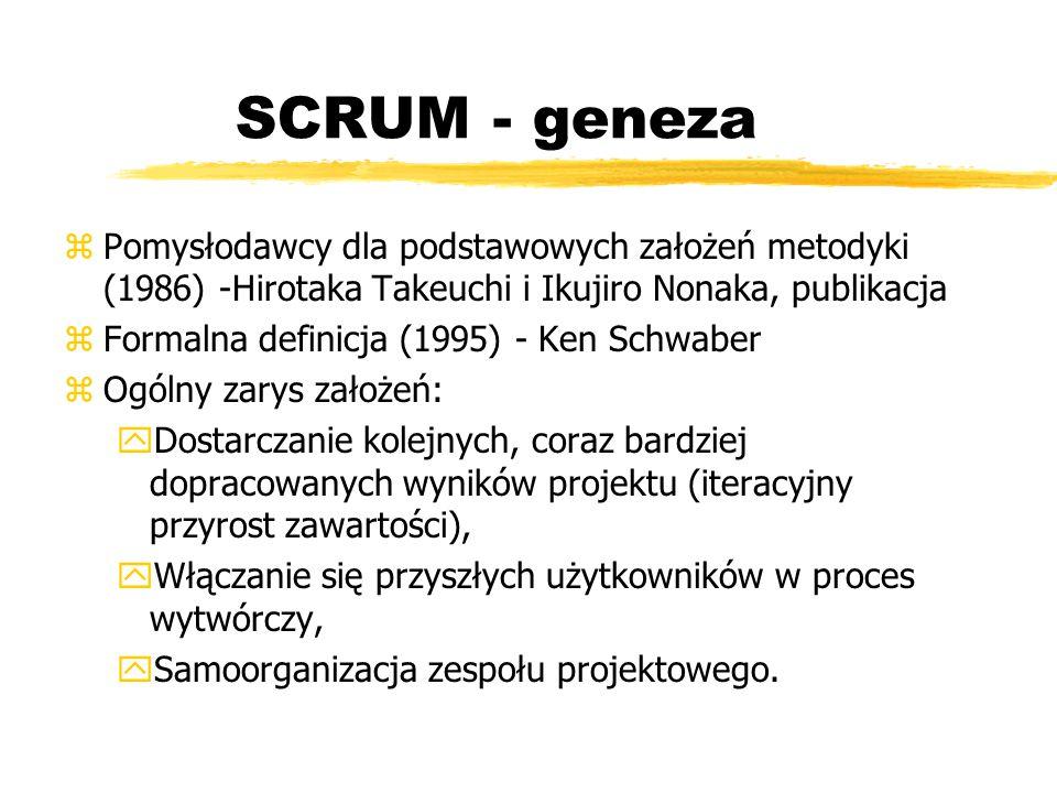 SCRUM Alliance zMożliwość certyfikacji szkoleń SCRUM zW Polsce certyfikat Certified Scrum Master można uzyskać po zdaniu egzaminu zEgzamin dostępny od 1 października 2009, płatny.