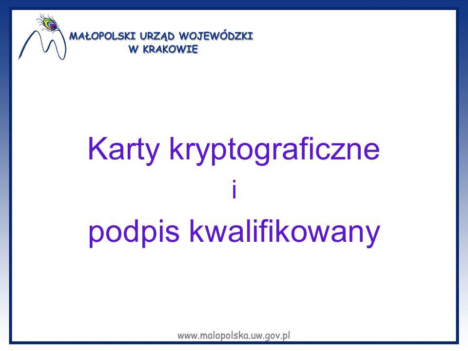 Karty kryptograficzne i podpis kwalifikowany