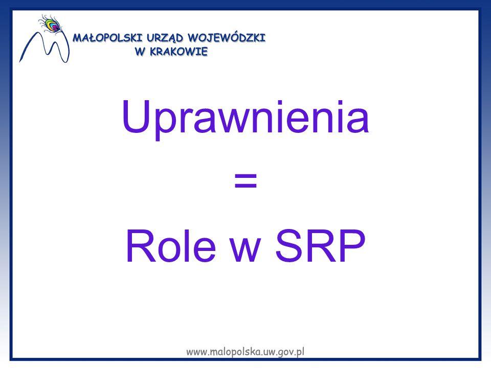 Uprawnienia = Role w SRP