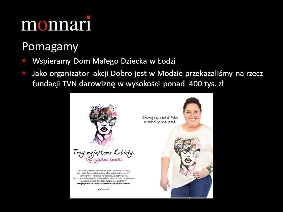 Pomagamy  Wspieramy Dom Małego Dziecka w Łodzi  Jako organizator akcji Dobro jest w Modzie przekazaliśmy na rzecz fundacji TVN darowiznę w wysokości