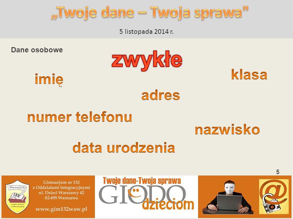 5 listopada 2014 r. 26 www.giodo.gim132waw.pl