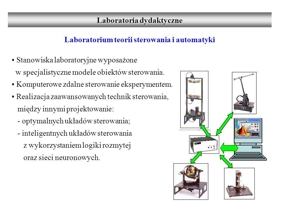 Laboratorium teorii sterowania i automatyki Stanowiska laboratoryjne wyposażone w specjalistyczne modele obiektów sterowania.