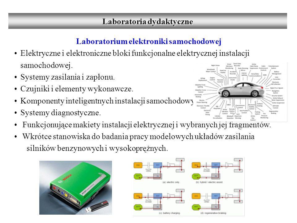 Laboratorium elektroniki samochodowej Elektryczne i elektroniczne bloki funkcjonalne elektrycznej instalacji samochodowej.
