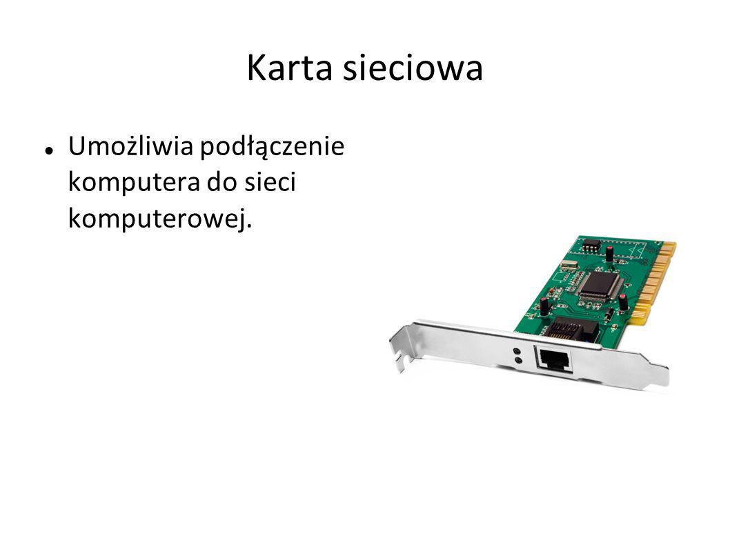 Pamięć operacyjna RAM Umożliwia tymczasowe przechowywanie przetwarzanych danych i uzyskanych w ten sposób wyników.