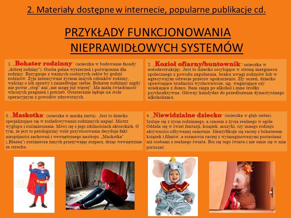 2.Materiały dostępne w internecie, popularne publikacje cd.