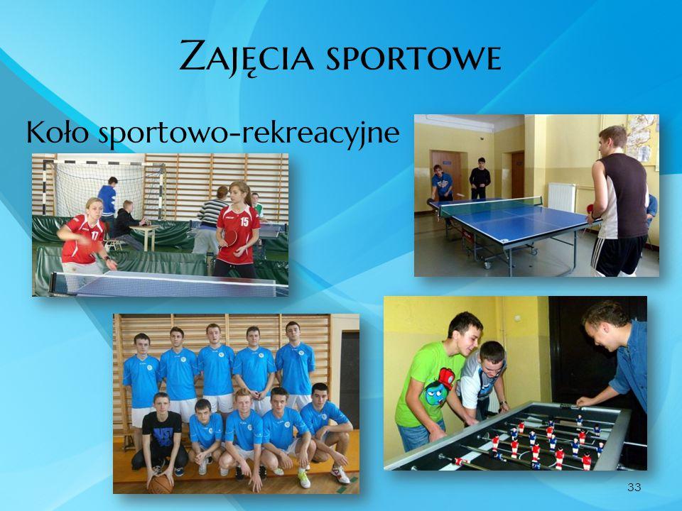 Zajęcia sportowe Koło sportowo-rekreacyjne 33