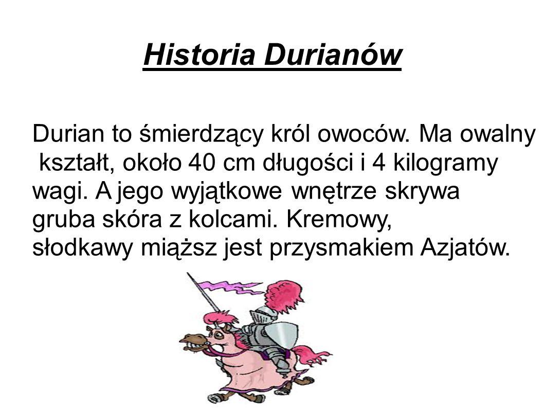 Historia Durianów Durian to śmierdzący król owoców.