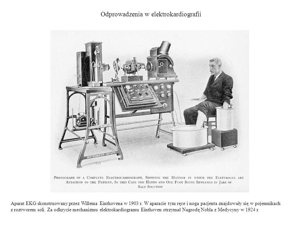 Odprowadzenia w elektrokardiografii Aparat EKG skonstruowany przez Willema Einthovena w 1903 r.