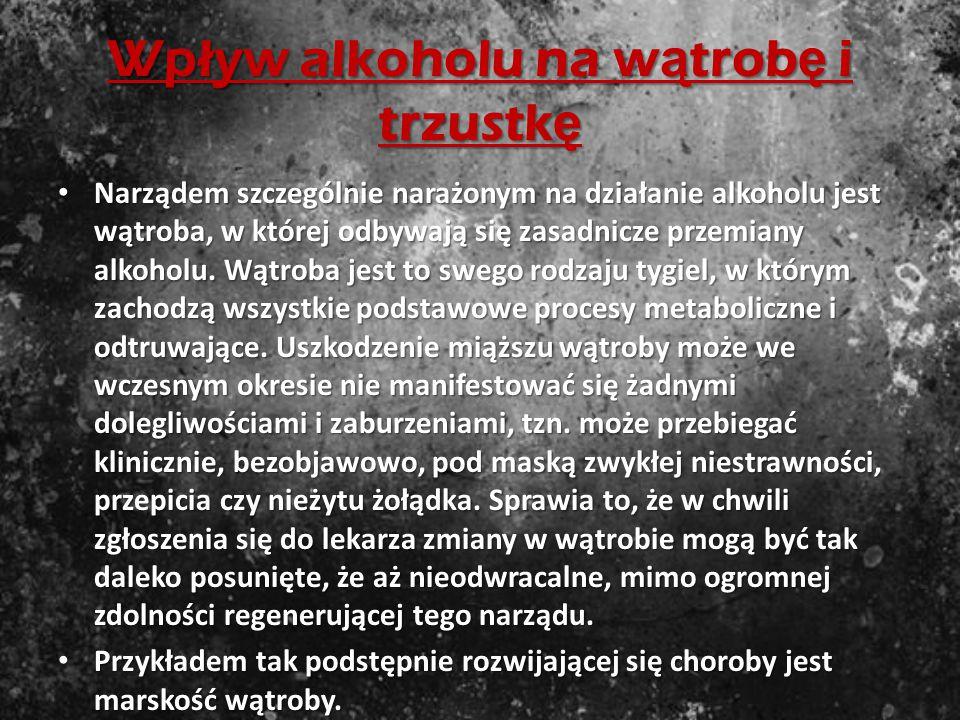 Wpływ alkoholu na układ pokarmowy Zaburzenia czynności przewodu pokarmowego u osób nadużywających alkoholu spotyka się bardzo często. Wynika to w pewn