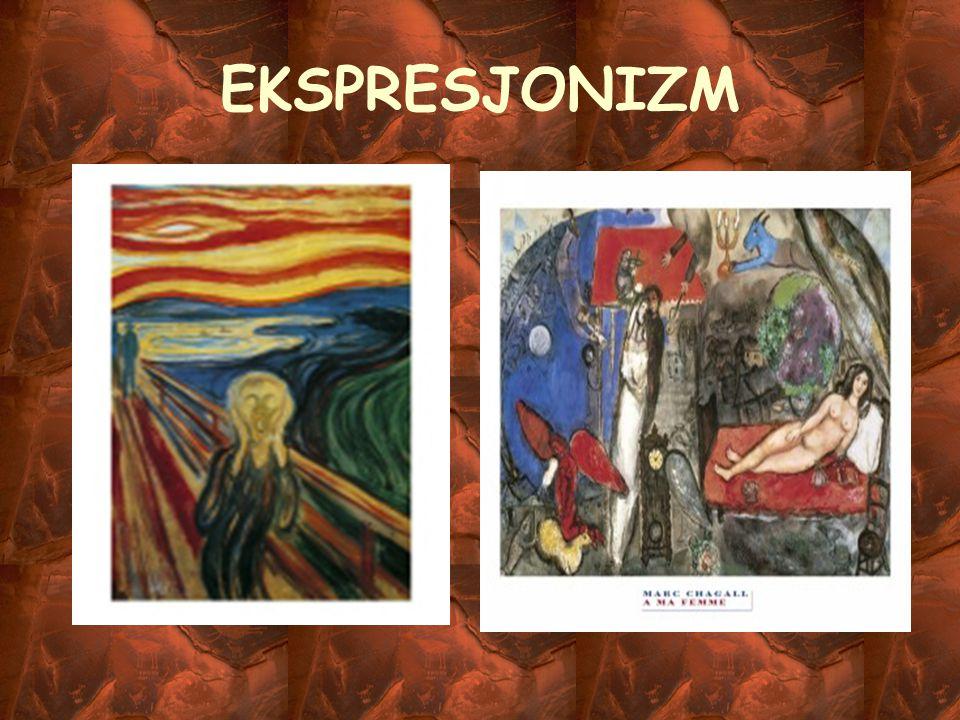 Rozwinął się w pierwszym 30-leciu XX wieku w Niemczech, ale korzeniami sięga do eksperymentów artystycznych wielkich twórców schyłku XIX w.: Vincenta van Gogha, Edwarda Muncha, Jamesa Ensora i Paula Gauguina, których można określić jako prekursorów ekspresjonizmu.