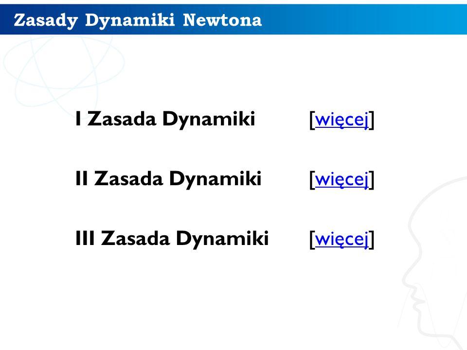 Zasady Dynamiki Newtona I Zasada Dynamiki Zasada bezwładności.