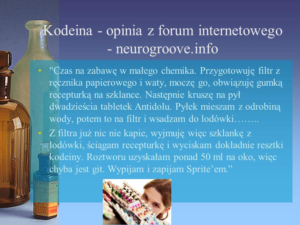 Kodeina - opinia z forum internetowego - neurogroove.info