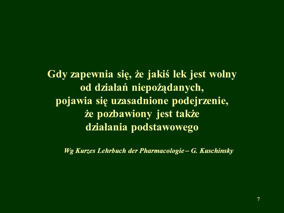 Obecnie w Polsce działa 7 regionalnych ośrodków monitorowania niepożądanych działań produktów leczniczych:  Kraków  Poznań  Wrocław  Łódź  Warszawa  Szczecin  Gdańsk ( 01 stycznia 2015 r.