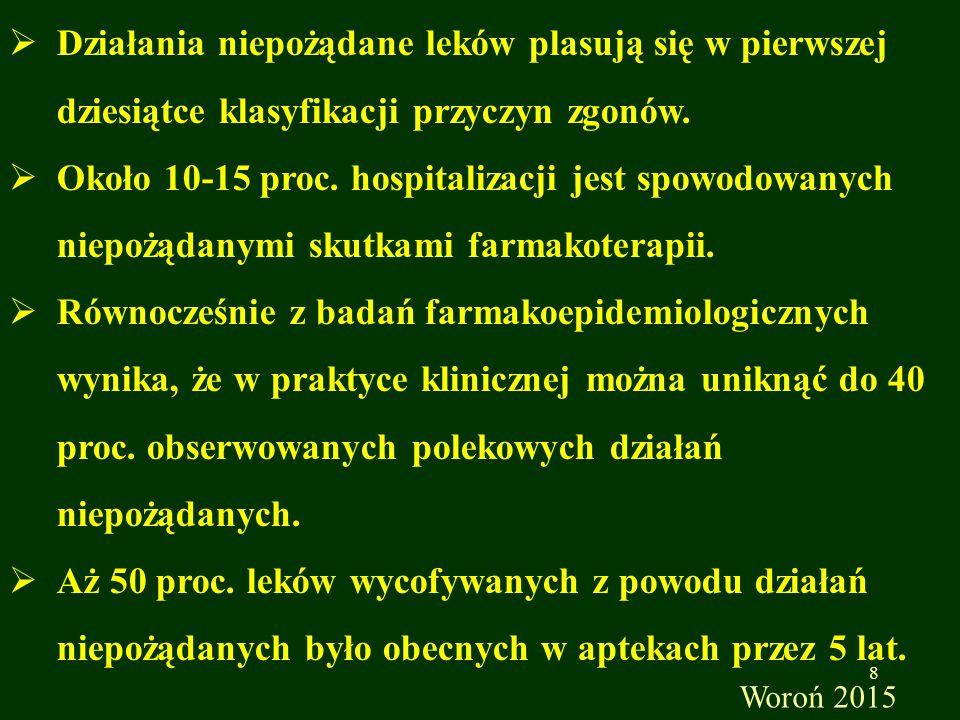 Zgłoszenia działania niepożądanego w Polsce może dokonać każdy, jednak szczegółowej analizie przyczynowo- skutkowej oraz ewidencjonowaniu podlegają raporty od fachowych pracowników opieki zdrowotnej:  lekarze  farmaceuci  dyplomowane pielęgniarki Jako ważne uznawane są zgłoszenia przekazane w formie pisemnej.