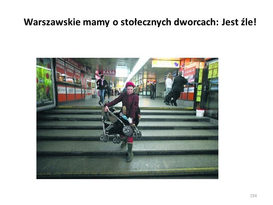 Warszawskie mamy o stołecznych dworcach: Jest źle! 194